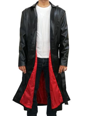 Wesley Snipes Black Leather Coat From Blade