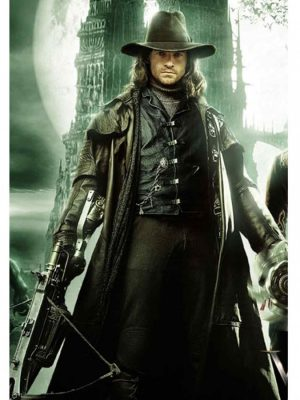 Hugh Jackman Gabriel Van Helsing Leather Trench Coat-0