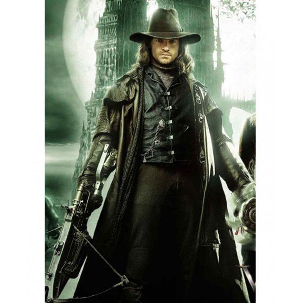 Hugh Jackman Gabriel Van Helsing Leather Trench Coat-0