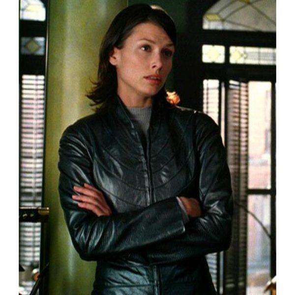 Bridget Moynahan I Robot Leather Jacket-0