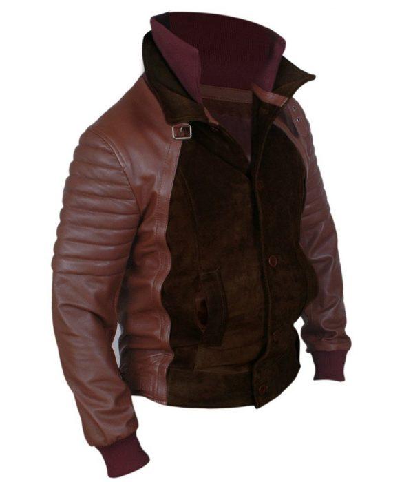 Horns Daniel Radcliffe Brown Leather Jacket