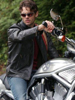 X-Men 3 Scott Motorcycle Cyclops Leather Jacket-0