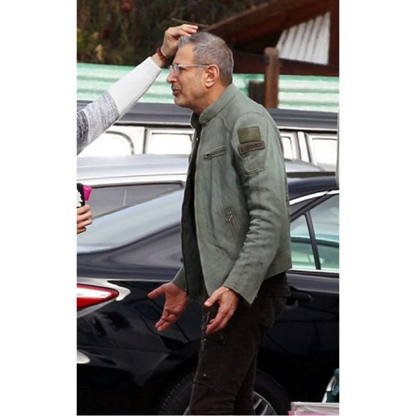Resurgence David Levinson Independence Day Green Leather Jacket