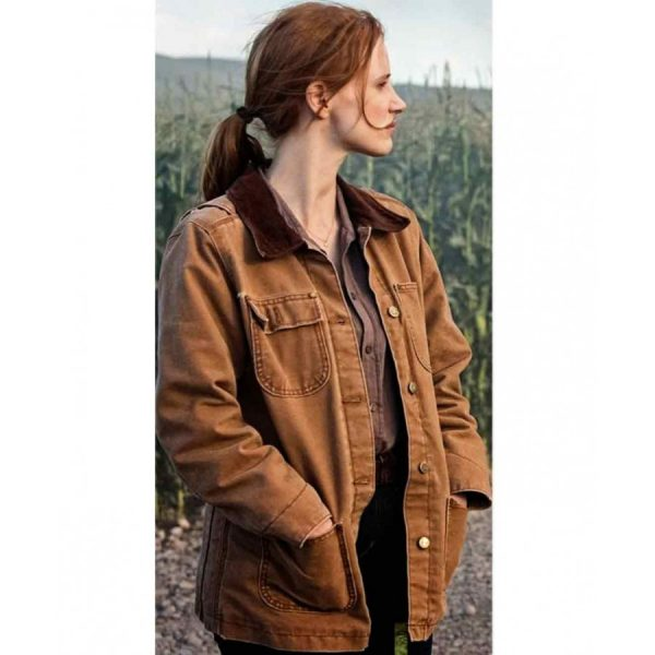 Jessica Chastain Interstellar Brown Cotton Jacket