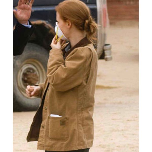 Interstellar Jessica Chastain Brown Jacket