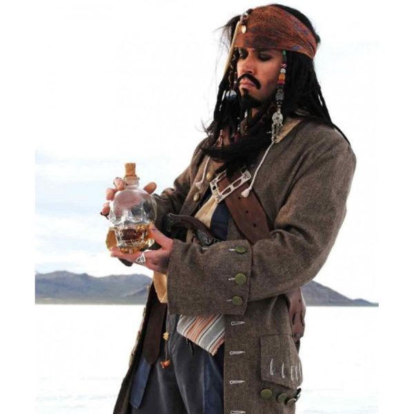 Pirates of The Caribbean Captain Jack Sparrow Coat-0