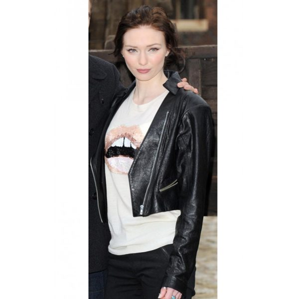 Eleanor Tomlinson Jack The Giant Killer Biker Leather Jacket