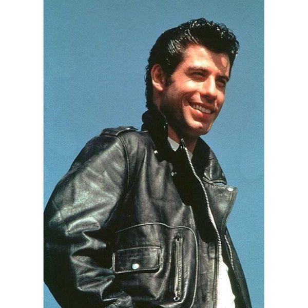 John Travolta T-Birds Black Leather Jacket