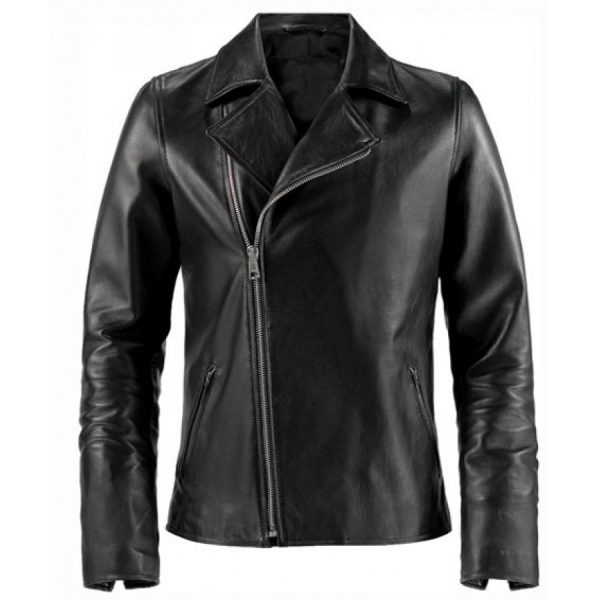 Johnny Blaze Ghost Rider Black Leather Jacket