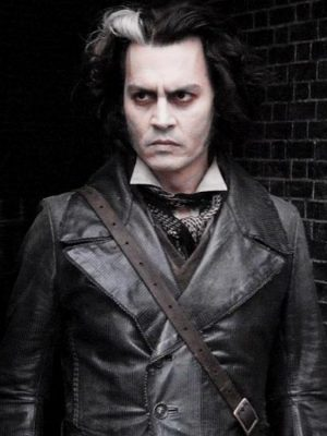 Johnny Depp Black Leather Coat