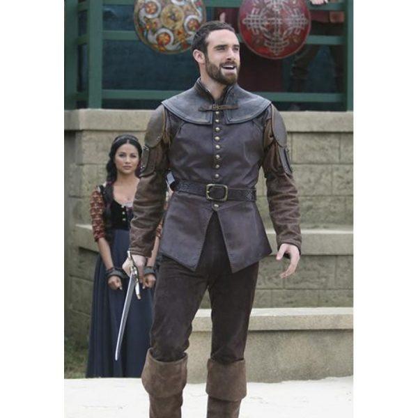 Galavant Joshua Sasse Brown Leather Vest