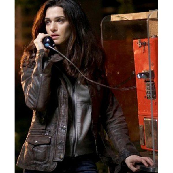 Kathryn Bolkovac The Whistleblower Rachel Weisz Brown Leather Jacket