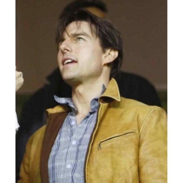 Knight And Day Tom Cruise Brown Leather Jacket