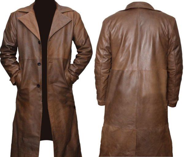 Batman Dawn of Justice Brown Leather Coat