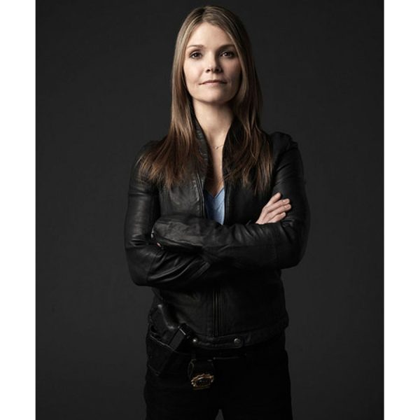 Kathryn Erbe Law and Order Leather Jacket-0