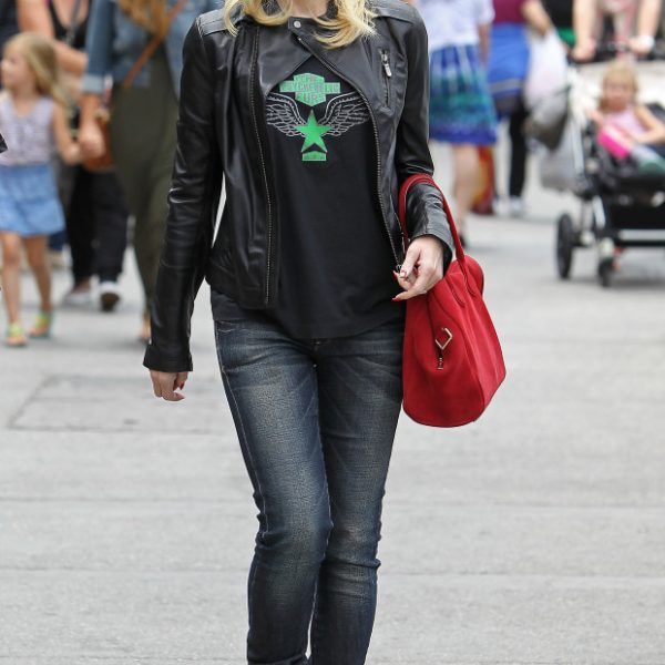 Gwen Stefani Black Leather Jacket
