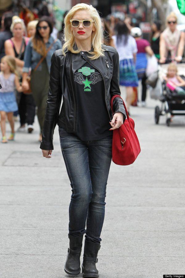 Gwen Stefani Black Leather Jacket