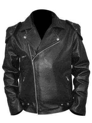Mad Max Rockatansky Black Biiker Leather Jacket