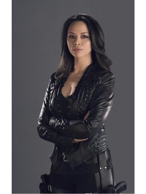 Dark Matter Melissa O'Neil Black Leather Jacket