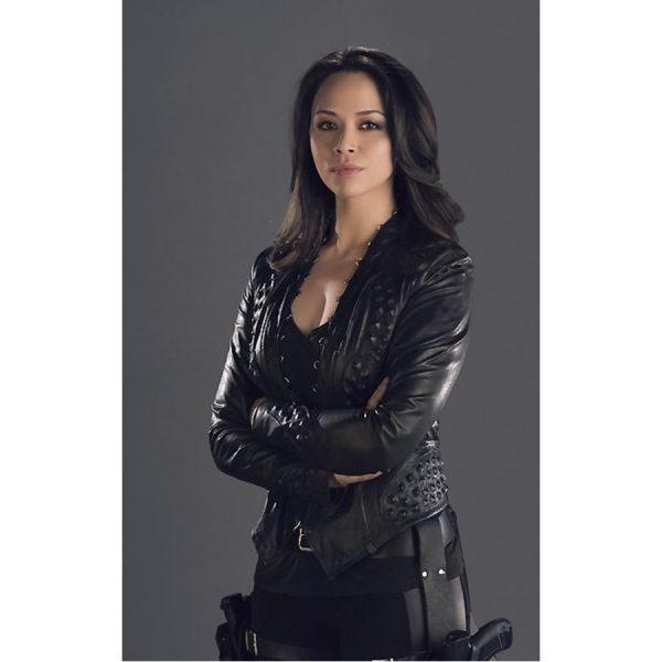 Dark Matter Melissa O'Neil Black Leather Jacket
