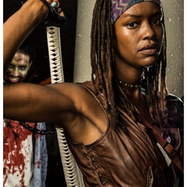 The Walking Dead Danai Gurira Michonne Leather Vest