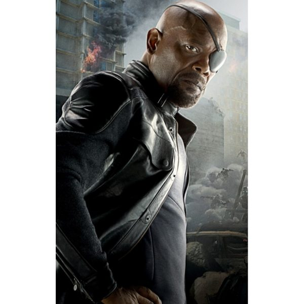 Avengers Age of Ultron Nick Fury Leather Jacket-0