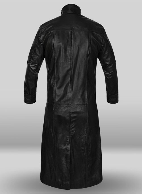 The Avengers Nick Fury Black Leather Coat