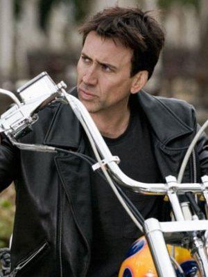 Johnny Blaze Ghost Rider Biker Leather Jacket-0