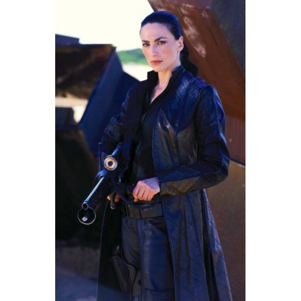 Claudia Black Farscape Officer Aeryn Sun Coat-0