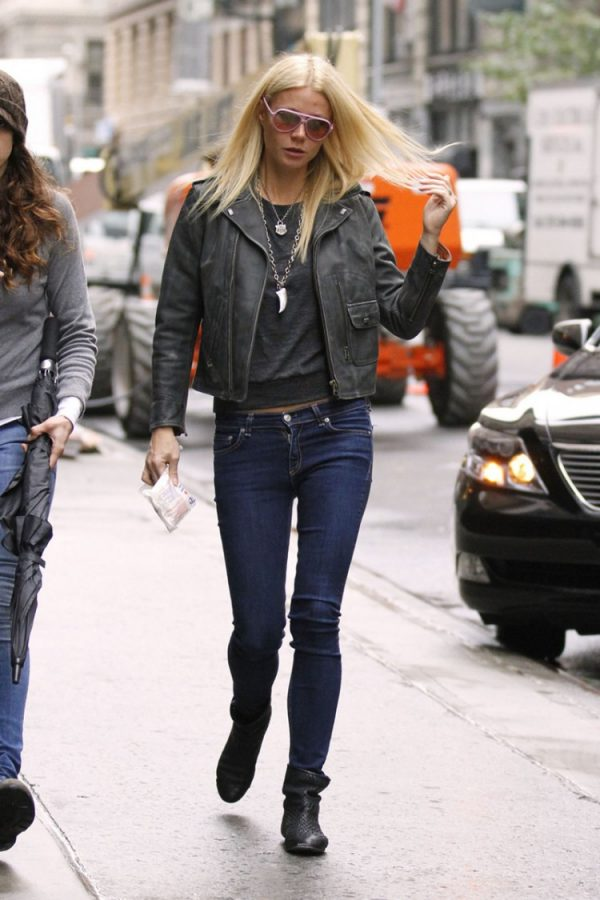 Gwyneth Paltrow Distressed Leather Jacket