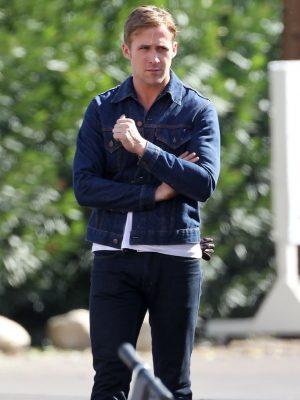 Drive Ryan Gosling Denim Jacket-0
