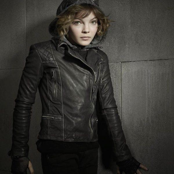 Camren Bicondova Selina Kyle Gotham Leather Jacket-0