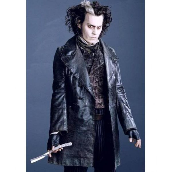 Sweeney Todd Long Johnny Depp Leather Coat-0