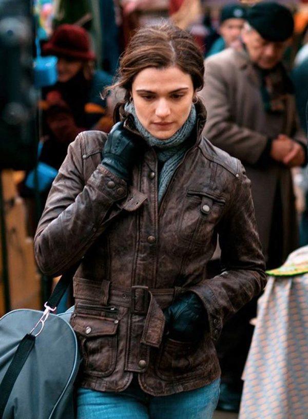 The Whistleblower Rachel Weisz Brown Leather Jacket