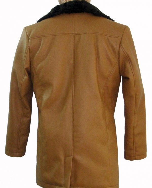 Hugh Jackman Wolverine Brown Shearling Leather Coat