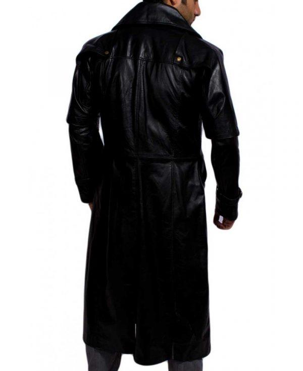 Hugh Jackman Gabriel Van Helsing Leather Trench Coat-4345