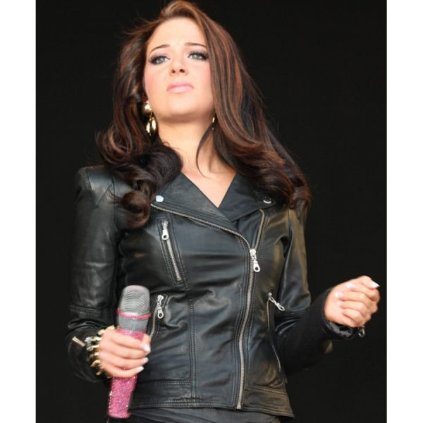 Tulisa Contostavlos Leather Jacket