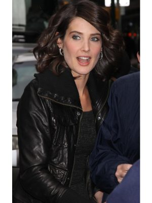 Cobie Smulders Leather Jacket