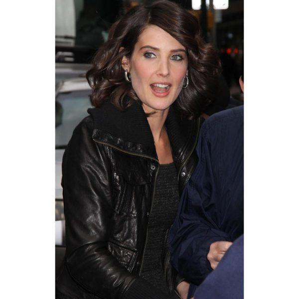 Cobie Smulders Leather Jacket