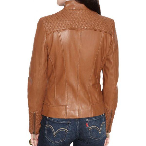 Designer Womens Brown Leather Jacket