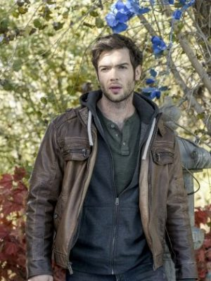 Ethan Peck Brown Leather Jacket The Curse of Sleeping Beauty -0