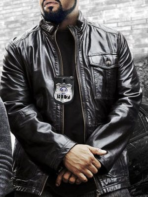 Ice Cube Black Leather Jacket Ride Along 2 2016-0