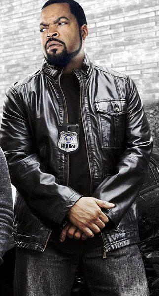Ice Cube Black Leather Jacket Ride Along 2 2016-0