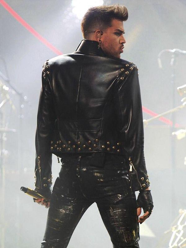 American Singer Adam Lambert Studded Jacket