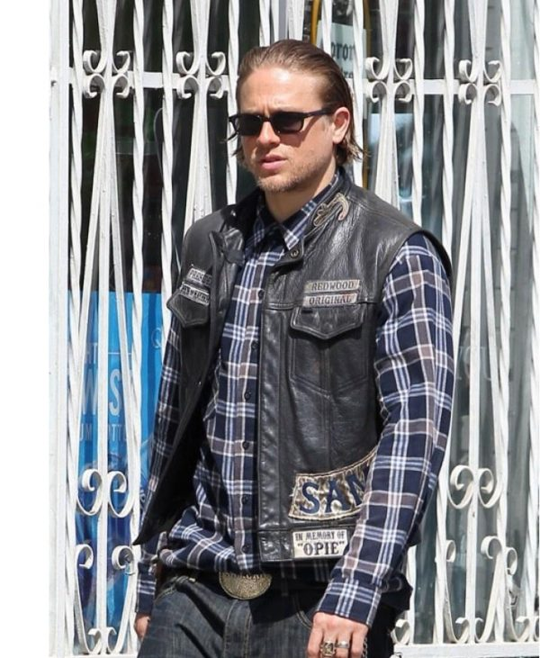 Charlie Hunnam Sons Of Anarchy Jax Teller Leather Vest