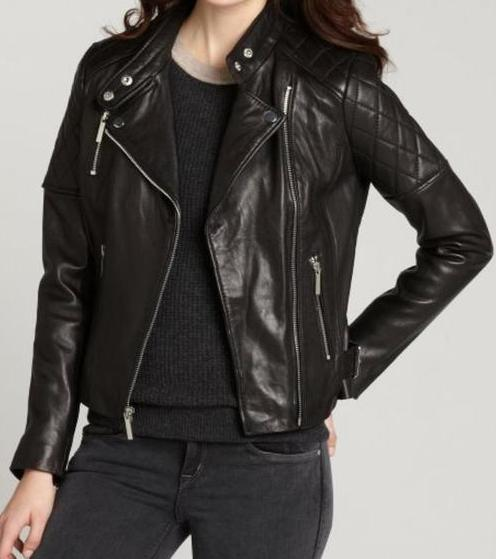 Womens Brown Winter Leather Jacket-0