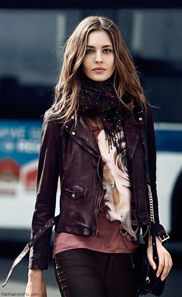 Megan Fox Purple Leather Jacket-0