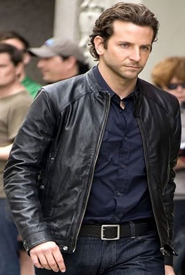 Bradley Cooper Limitless Black Leather Jacket