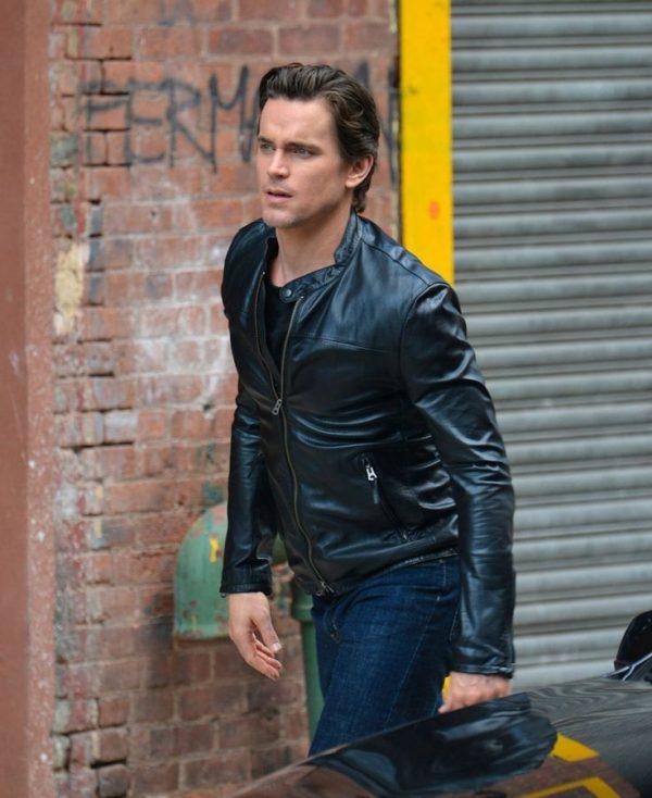 Matt Bomer Black Leather Jacket