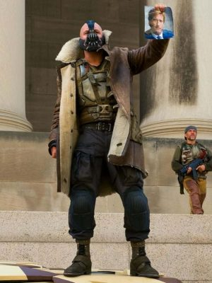The Dark Knight Rises Bane Winter Leather Coat-0